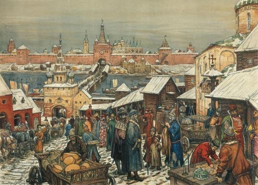 Васнецов А. М. Торг в Нижнем Новгороде. 1908-