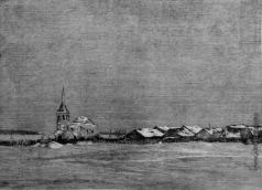 Французов Б. Ф. Село зимой