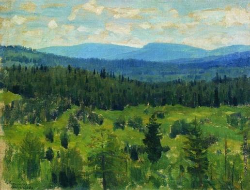 Васнецов А. М. Уральский пейзаж. 1890-