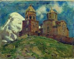Васнецов А. М. Церковь Цминда Самеба. Кавказ