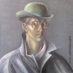 Рыбникова О. Н. Автопортрет в шляпе
