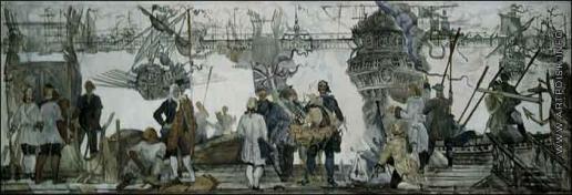 Блиок А. Н. Спуск кораблей Пером I