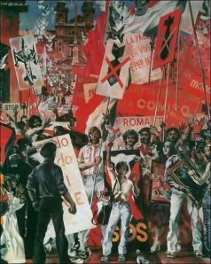 Блиок А. Н. Венецианские контрасты -4. (Манифестация художников на полощади Испании в Риме)