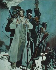 Блиок А. Н. Фрагмент росписи в Военно-Медицинской Академии «Медики в войнах»