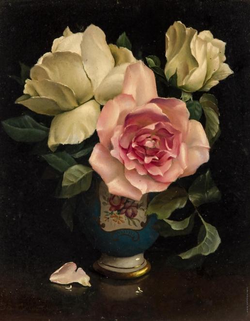 Клестова И. Три розы в фарфоровой вазе