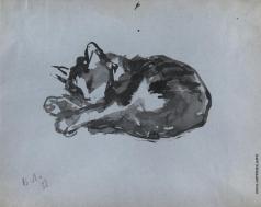 Лебедев В. В. Спящая кошка