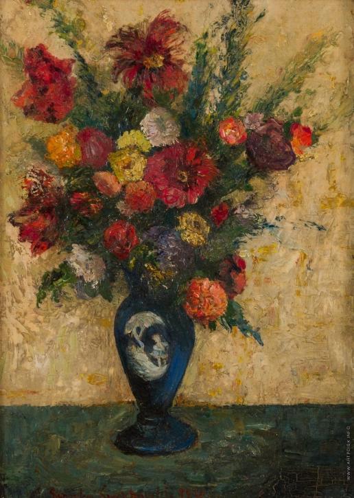 Симхович С. Ф. Натюрморт с цветами в синей вазе