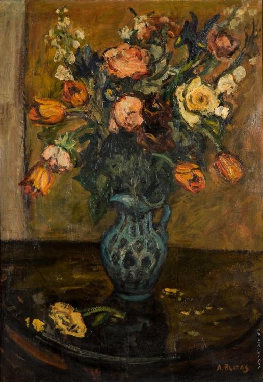 Блатас А. Натюрморт с тюльпанами