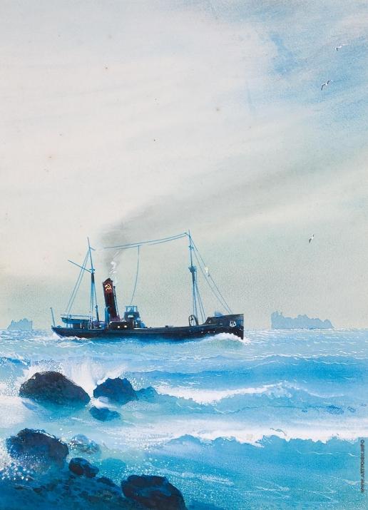 Тамби В. А. Корабль в море