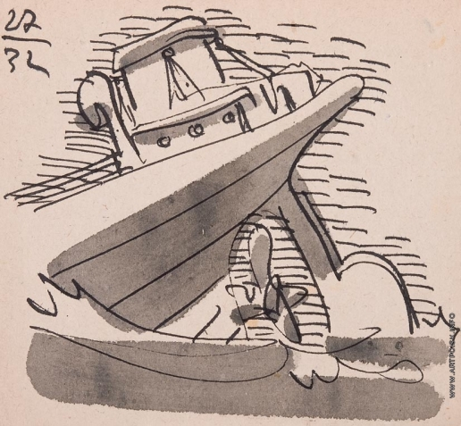 Тамби В. А. Серия «Перовые наброски». «Лодка»