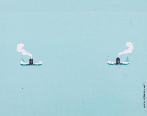Тамби В. А. Эскиз обложки к книге А. Августынюк «Стальные кони»