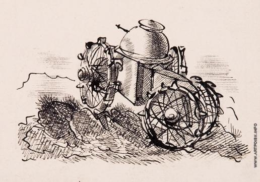 Тамби В. А. Танк. Иллюстрация для журнала «Костер» №11 1939 года