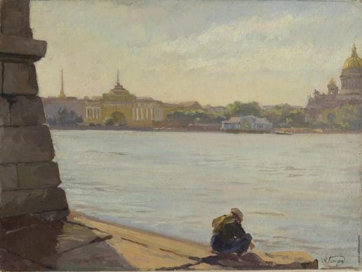 Ганзен А. В. Вид с Невы. Санкт-Петербург
