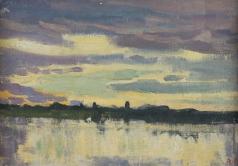 Рылов А. А. Тихий вечер на озере