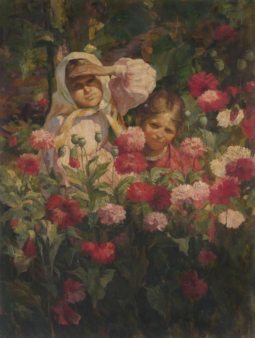 Сычков Ф. В. Дети в море цветов