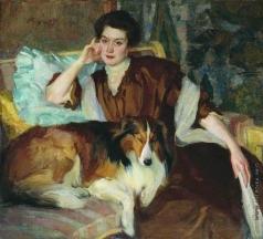 Браз О. Э. Портрет жены