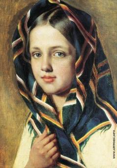 Венецианов А. Г. Девушка в платке