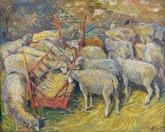 Тархов Н. А. Овцы в сарае в Перигоре