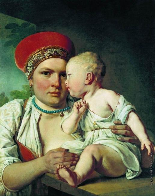 Венецианов А. Г. Кормилица с ребенком