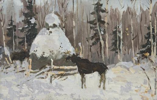 Степанов А. С. Лосиное пастбище на севере