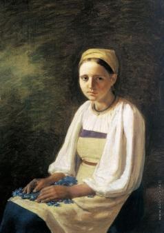 Венецианов А. Г. Крестьянка с васильками
