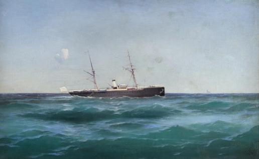 Алисов М. А. Корабль на море