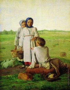 Венецианов А. Г. Крестьянские дети в поле