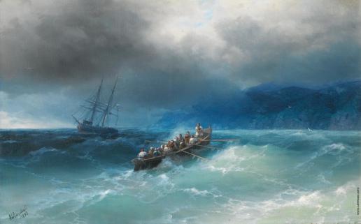 Айвазовский И. К. Шторм на Черном море