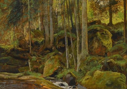 Шишкин И. И. Лесной ручей