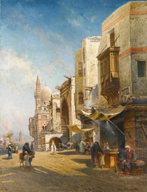 Маковский Н. Е. Улица в Каире