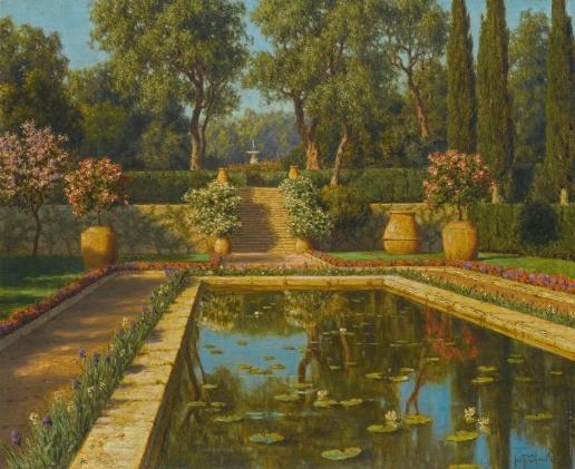 Шультце И. Ф. Ницца. Цветущий сад