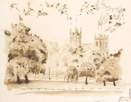 Добужинский М. В. Сент-Джеймс парк в Лондоне