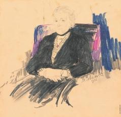 Малявин Ф. А. Женский портрет
