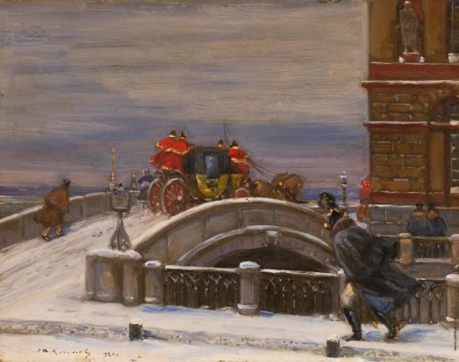 Кучумов В. Н. Карета переезжает Эрмитажный мост