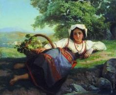 Верещагин В. П. Девушка с виноградом
