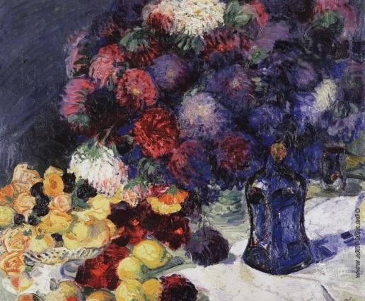 Анисфельд Б. И. Натюрморт. Цветы и фрукты
