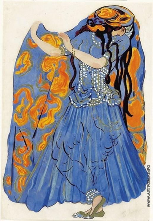 Анисфельд Б. И. Эскиз костюма танцовщицы к балету «Исламей»