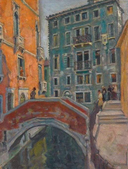 Лаховский А. Б. Венеция. Мост через канал. (Сцена на венецианском канале)