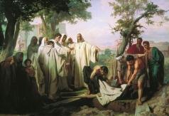 Верещагин В. П. Святой Григорий проклинает умершего монаха за нарушение обета бессеребрия