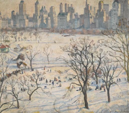 Лаховский А. Б. Зима в Центральном парке