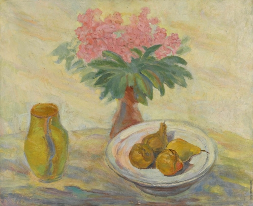 Кузнецов П. В. Натюрморт с цветами и фруктами