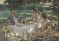 Харитонов Н. В. Чай в саду