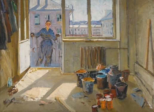 Данциг М. В. Девушка на балконе
