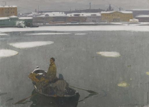 Галахов Н. Н. Нева зимой