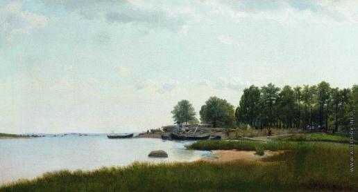 Верещагин П. П. Рыбацкие лодки на берегу