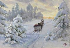 Романова О. А. Зимняя сцена