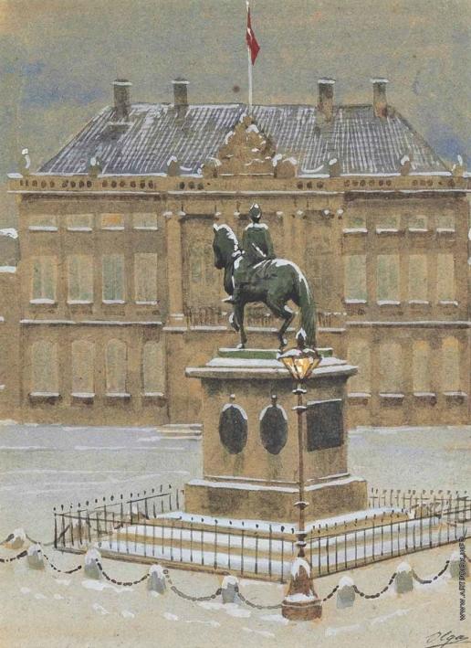 Романова О. А. Вид на конную статую короля Фредерика V