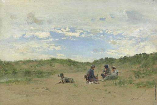 Похитонов И. П. Любители охоты в дюнах