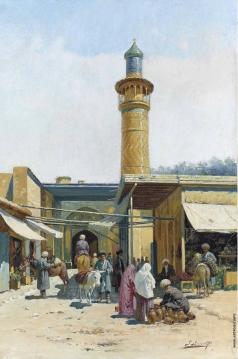 Зоммер Р. К. Рыночная площадь у минарета