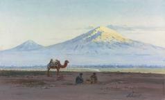 Зоммер Р. К. Путешественники у горы Арарат